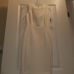 BRAND NEW Calvin Klein Sheath Dress White Cream 2